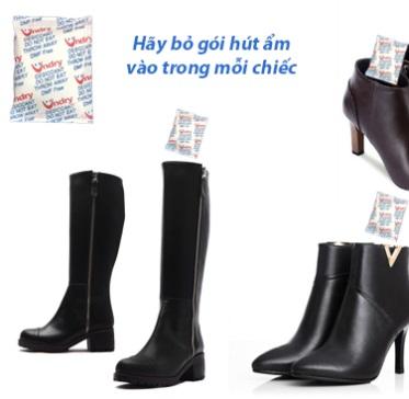 Hạt hút ẩm được sử dụng để bảo quản giày dép